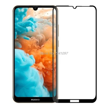 3D 9H Full Cover Screen Protector For HuaWei Y6 2019 Full Glue Tempered Glass for HuaWei Y6 Pro 2019 Protective Display Film image