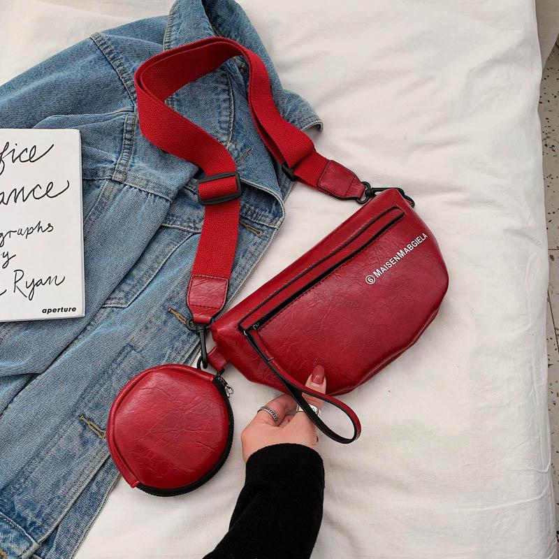 New Women Waist Bag Leather Fanny Pack PU Hip Bag Multi-Pocket Banana Bags High Capacity Waterproof Kidney Bags Waist Pouch