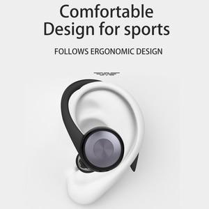 Image 4 - Caletop TWS sport en cours dexécution sans fil écouteurs oreille crochet Bluetooth bruit suppression casque IPX4 étanche casque avec micro