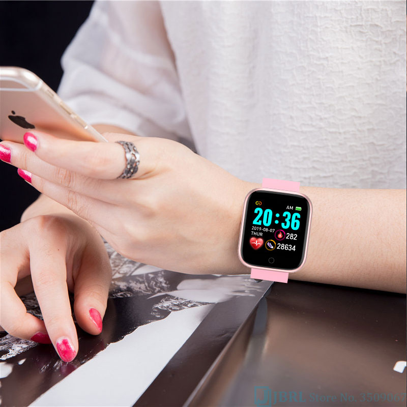 Nova moda praça relógio inteligente relógio feminino