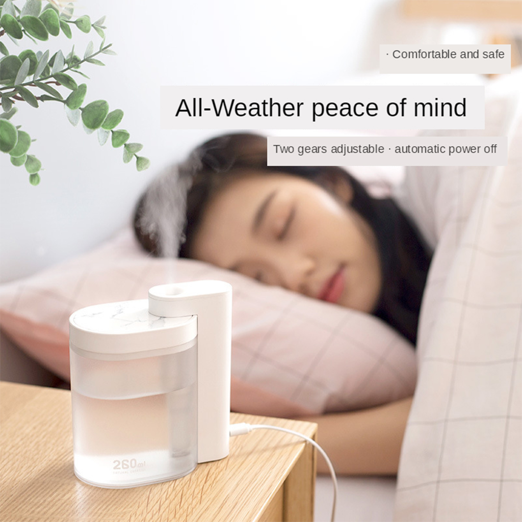 SOTHING Portable Air Humidifier Mini Mute Geometric Ultrasonic Humidifier Atmosphere USB Diffuser With Water Tank 260ML Home