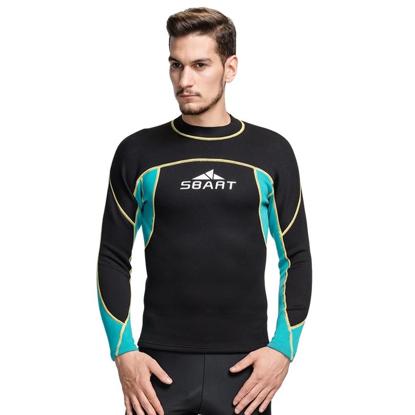 SBART mannen 2mm neopreen wetsuit, neopreen wetsuit, jongens nat jersey, wetsuit jeugd zwemmen bodyboarden snorkelen duiken TOP