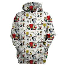 Cartoon cute dog 3D Print  Hoodie Sweatshirt Unisex Harajuku coat casual pullover hoodies CARTOON-003