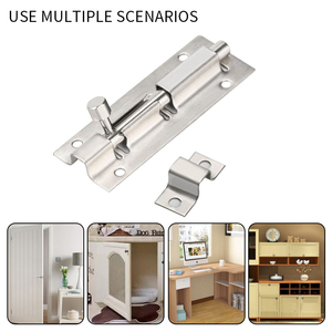 Furniture Door Bolts 1.5/2/3/4/6/8/10/12 Inch Stainless Steel Locks Sliding Door Chain Latch For Gate Security Hardware