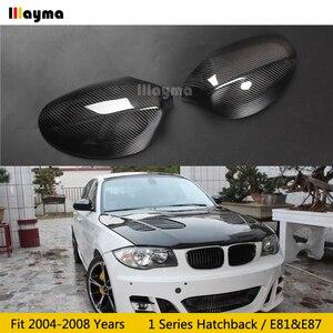 Image 1 - Carbon Fiber Mirror cover For BMW 1 Series Hatchback 116i 120i 130i 135i 2004 2008 year E81 E87 Car rear mirror cap stick on