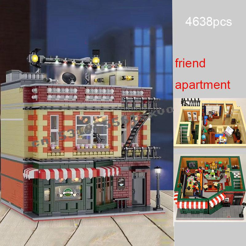 2020 New Lepining Classic TV Series American Drama The Big Bang Theory Friends Central Perk Cafe Building Block Brick Toys Gift