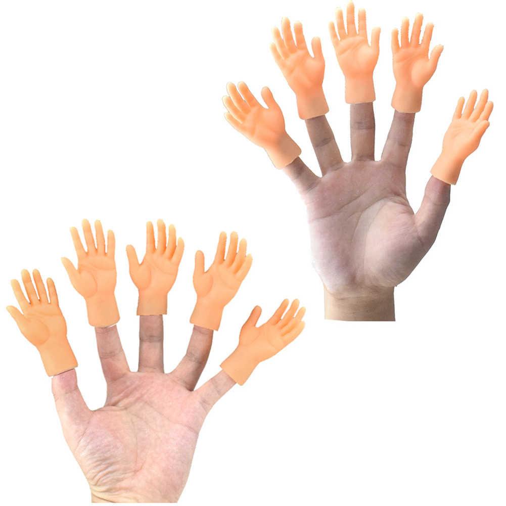 Lustige simulation links rechts mini hände finger hülse spielzeug puppen X0D7