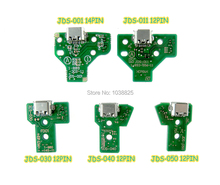 50 個 JDS 055 050 001 011 030 040 USB 充電ポートソケット電源充電器ボード 12PIN ケーブルプレイステーション 4 PS4 プロコントローラ