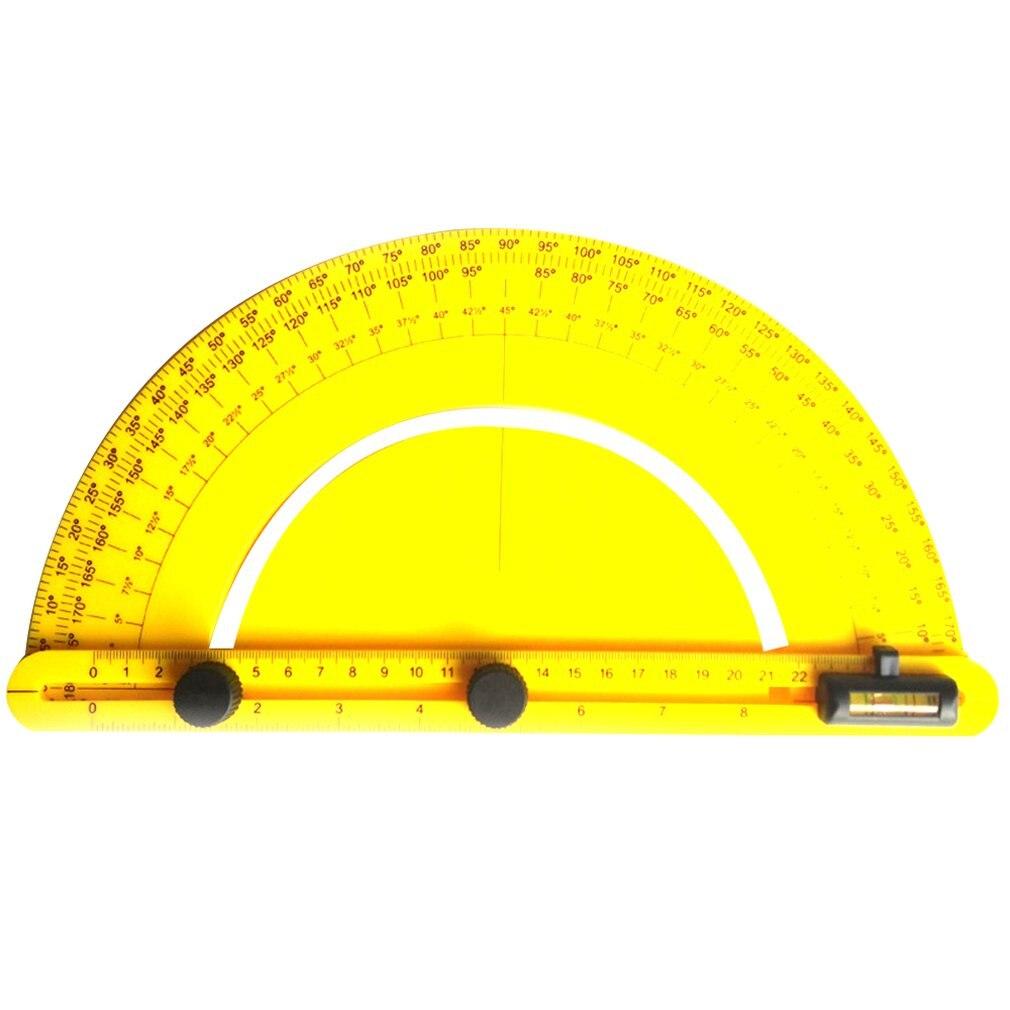 Multi Angle Ruler Finder Plastic 180 Degree Protractor For Builder Carpenter Craftsman And Engineer Large Size