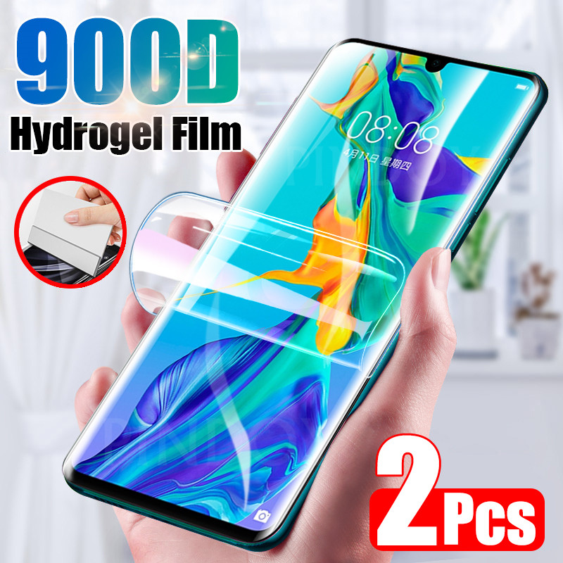 2Pcs 900D Screen Protector For Huawei P30 P20 Lite Pro P Smart 2019 Full Cover Hydrogel Film For Huawei Mate 20 30 Pro Not Glass