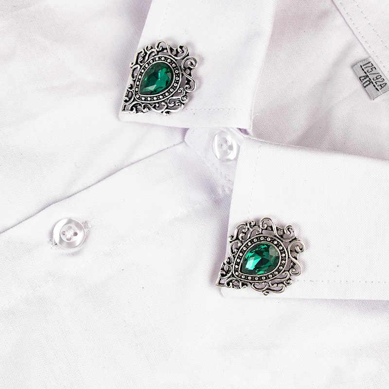 Nuova Annata di Cristallo Spilla Spille Goccioline di Acqua Spille Hollow Camicia Cappotto Distintivo Del Collare Del Risvolto Spille Regali per Gli Uomini e Le Donne gioielli