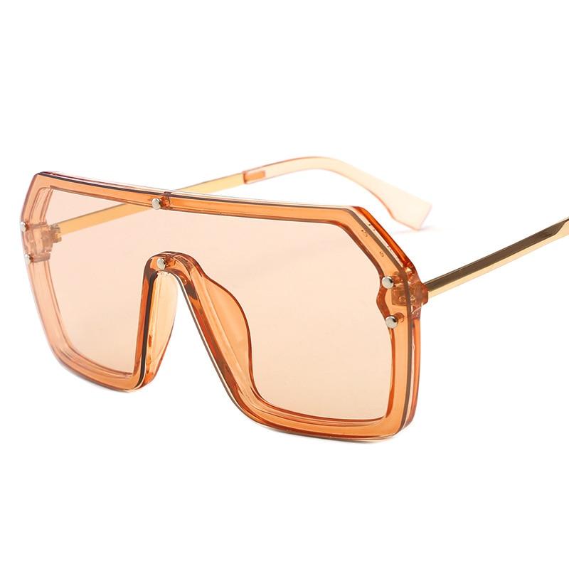 2020 Oversized Sunglasses Women Big Frame Square Flat Top F Letter Sun Glasses Female Men Vintage