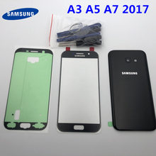 Original Housing Battery Cover Back Glass Front Touch glass Replacement Parts For Samsung Galaxy A3 A5 A7 2017 A320 A520 A720