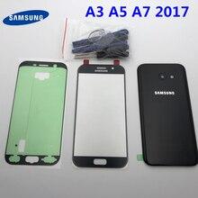 Originele Behuizing Batterij Cover Terug Glas Voor Touch Glas Vervangende Onderdelen Voor Samsung Galaxy A3 A5 A7 2017 A320 A520 a720