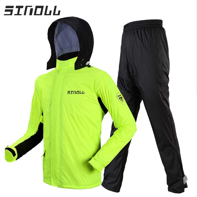 Waterproof Pants Raincoat Jacket Adult Set Travel Poncho Raincoat Hiking Survival Waterproof Regenjacke Rain Poncho JJ60YY