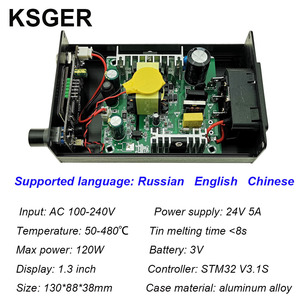 Image 3 - KSGER Estación de soldadura T12, herramientas de bricolaje STM32 V3.1S OLED, puntas de hierro T12, mango de aleación de aluminio 907, soporte de Metal, calor rápido