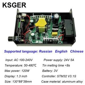 Image 3 - KSGER T12 Stazione di Saldatura FAI DA TE STM32 V3.1S OLED Strumenti di Saldatura T12 Punte di Ferro In Lega di Alluminio 907 Manico In Metallo Del Basamento Rapido di calore