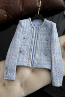 New Temperament to explosion Knitted tweed short jacket