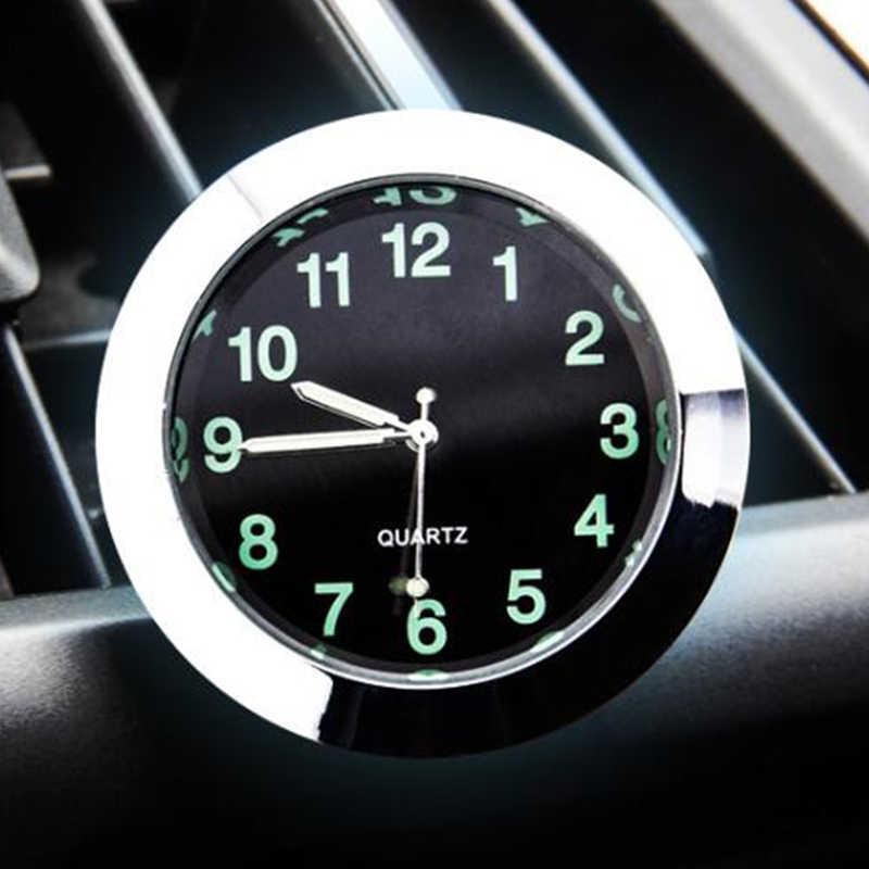 Reloj de cuarzo para automóvil adornos de reloj para decoración de coche, reloj Interior para vehículo, puntero Digital, salida de aire acondicionado, Clip