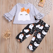 2019 new baby girls clothes set O neck long sleeve Cartoon tops+pant Autumn winter cute cotton soft  toddler 6M-4Y