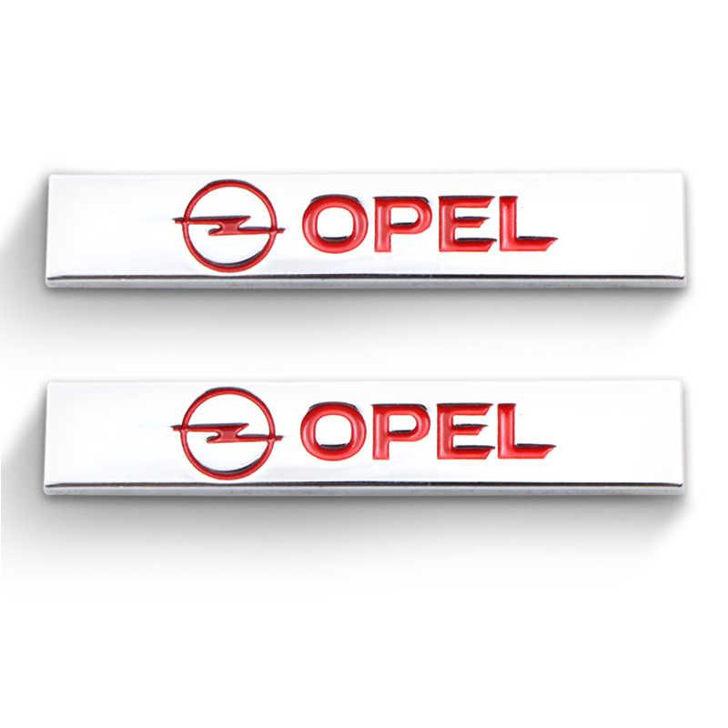 2 pièces 3D Voiture Autocollants En Aluminium de Logo Emblème Badge Autocollant Pour Opel Astra H G J Corsa Antara Meriva Zafira Accessoires De Voiture