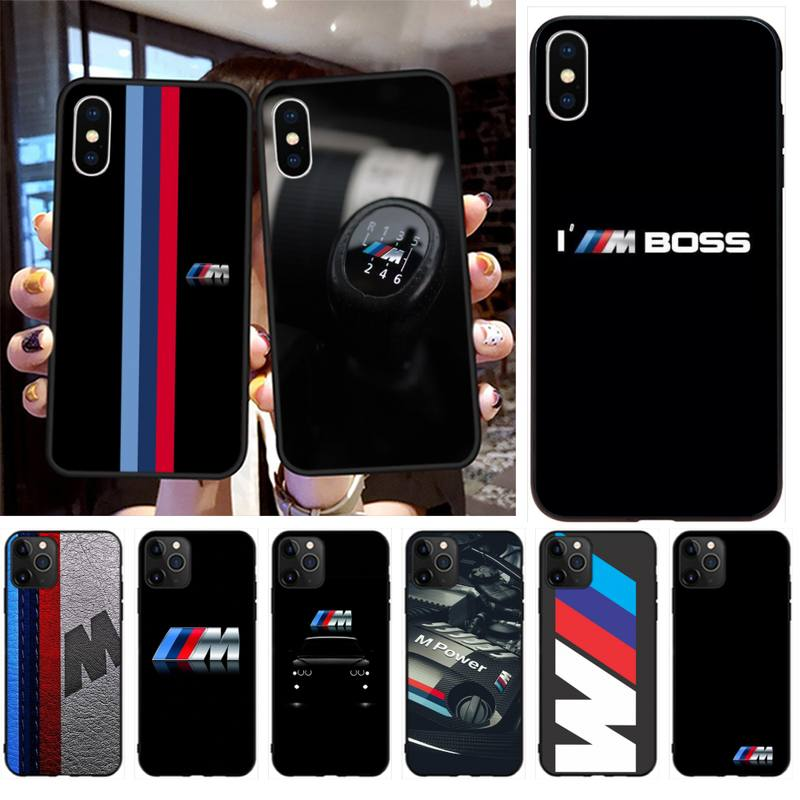 YJZFDYRM Germany Luxury M BMW Customer Phone Case for iPhone 11 pro XS MAX 8 7 6 6S Plus X 5S SE 2020 XR case image