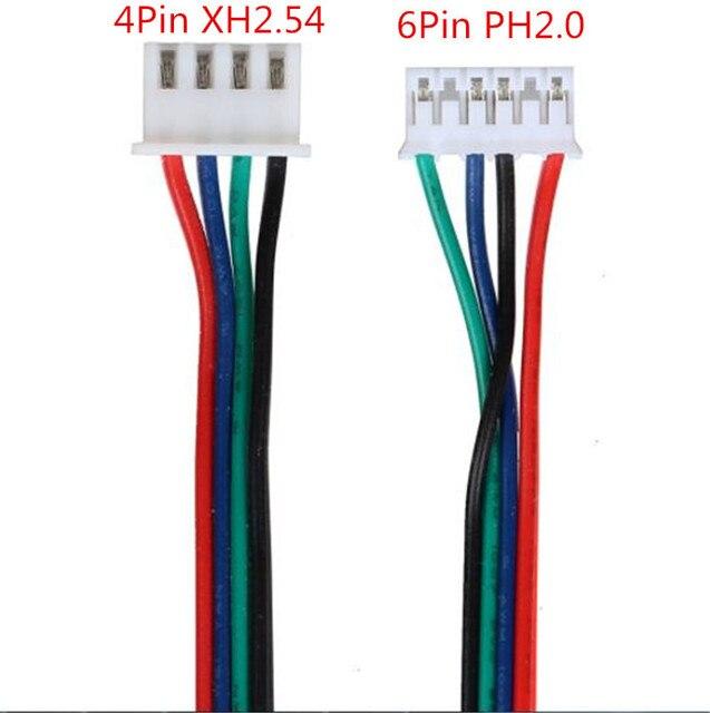Фото 4 шт кабель шагового двигателя от 4pin до 6pin xh254 nema 17 цена