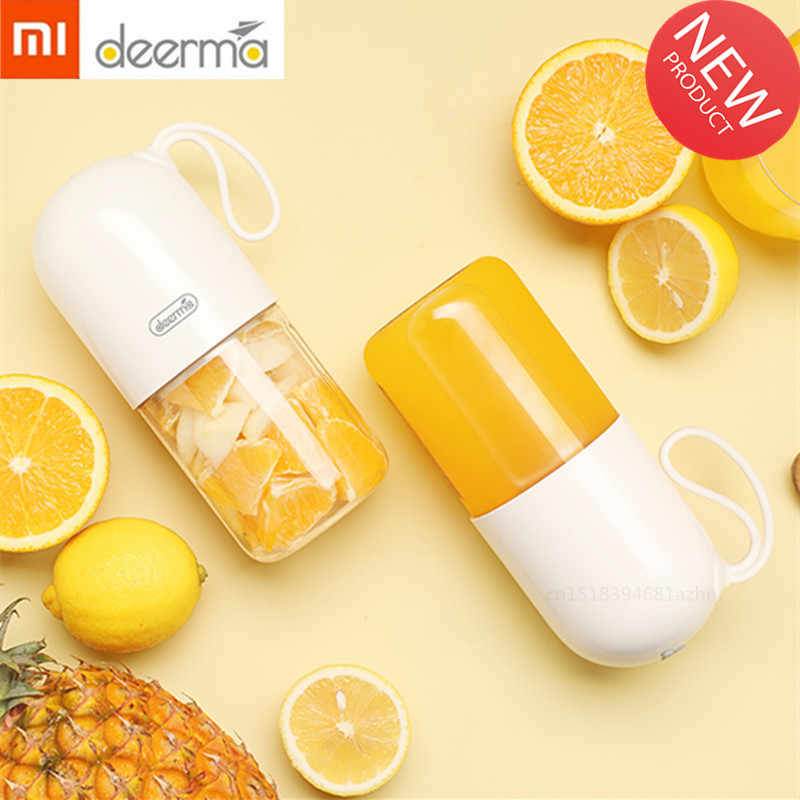 Xiaomi Deerma 300ml Portable Electric Juicer Blender Multipurpose Wireless Mini USB Rechargable Juice Cup Cut Mixer for Travel