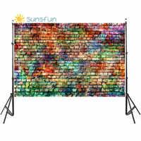 Fondos de fotografía de pared de ladrillo de Color Sunsfun para mascotas de juguete foto estudio Baby Shower recién nacidos niños fondos de fotófono