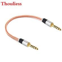 Thoulies diy de alta fidelidade único cristal cobre 4.4mm masculino equilibrado para 4.4mm adaptador áudio macho balanceado cabo 4.4 macho para adaptador masculino
