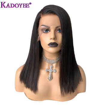 Brazilian Bob Wig Straight Lace Front Human Hair Wigs Pre Plucked Natural Color Bleached Knots Remy Hair Side Part Frontal Wig - DISCOUNT ITEM  54% OFF All Category