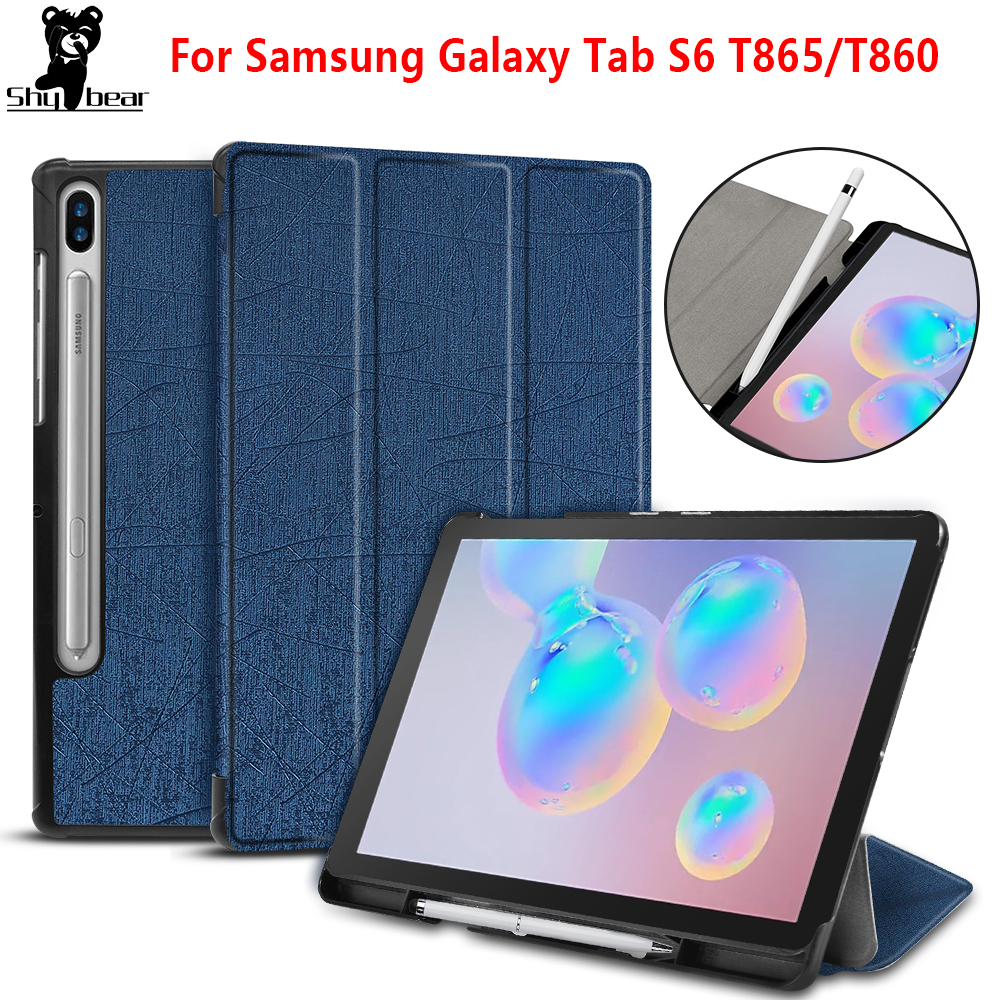Case For Samsung Galaxy Tab S6 2019 SM-T860 SM-T865 case cover for Samsung galaxy 10.5 S5E SM-T725 T720 with Pen-slot image