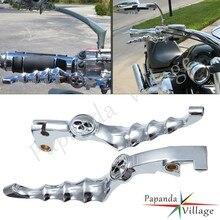 1 para Chrome aluminium motocyklowe dźwignie hamulcowe sprzęgło ręczne dla Honda CB750 VF750C VTX1300 VT 750/1100/1300 cień rychag tormoza
