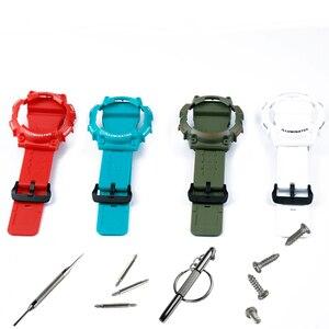 Image 4 - שעון אביזרי פין אבזם מתאים עבור Casio שרף רצועת מקרה גברים של שעון עם AQ S810W AQS810WC ספורט עמיד למים שעון להקה