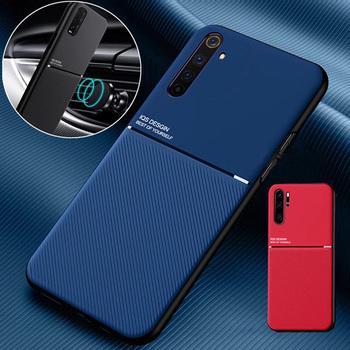 Luksusowe skórzane etui do Huawei Mate 30 20 Pro 10 P20 P30 P40 Lite P10 Plus samochód magnetyczny pokrywa dla honoru 10 20 Lite Nova 5T przypadku tanie i dobre opinie peitricrog CN (pochodzenie) Częściowo przysłonięte etui Soft Silicone Edge Protective Phone Cover Zwykły