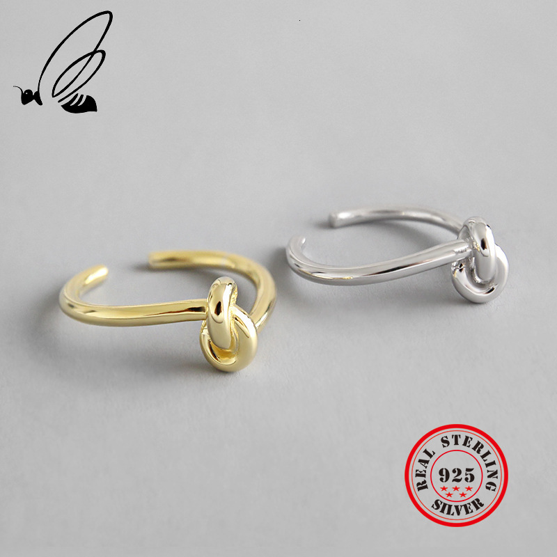 925 Sterling Silver Rings Female's Resizable Handmade Anillos 2 Color Plata 925 Para Mujer Accesorios Mujer Moda 2019 Jewellery