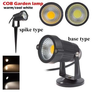 Image 2 - Уличный свет для сада, 3 Вт, 5 Вт, 7 Вт, 9 Вт, COB, 220 В, 110 В, светодиодные лампы для газона, 12 В, водонепроницаемые Ландшафтные дорожные прожекторы