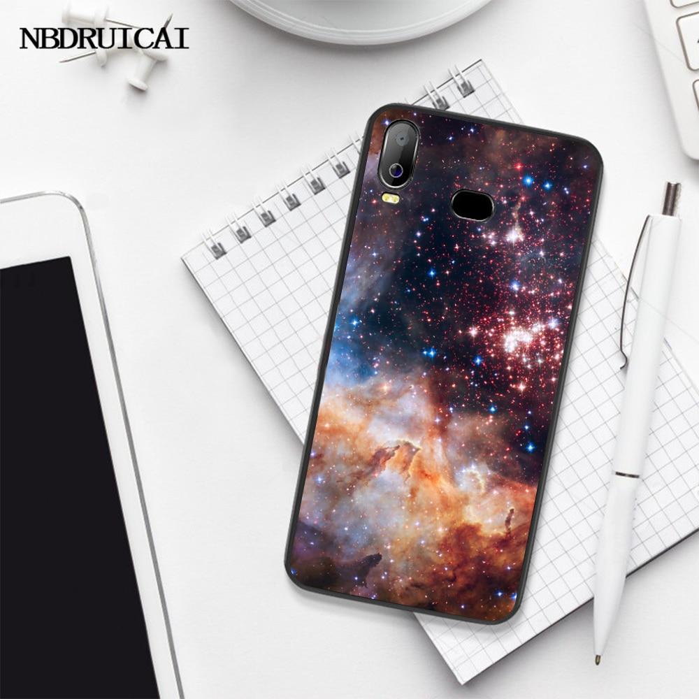 NBDRUICAI spazio per la galassia Nero Molle di TPU Gomma Della Copertura Del Telefono Per Samsung A10 A20 A30 A40 A50 A70 A71 A51 a6 A8 2018