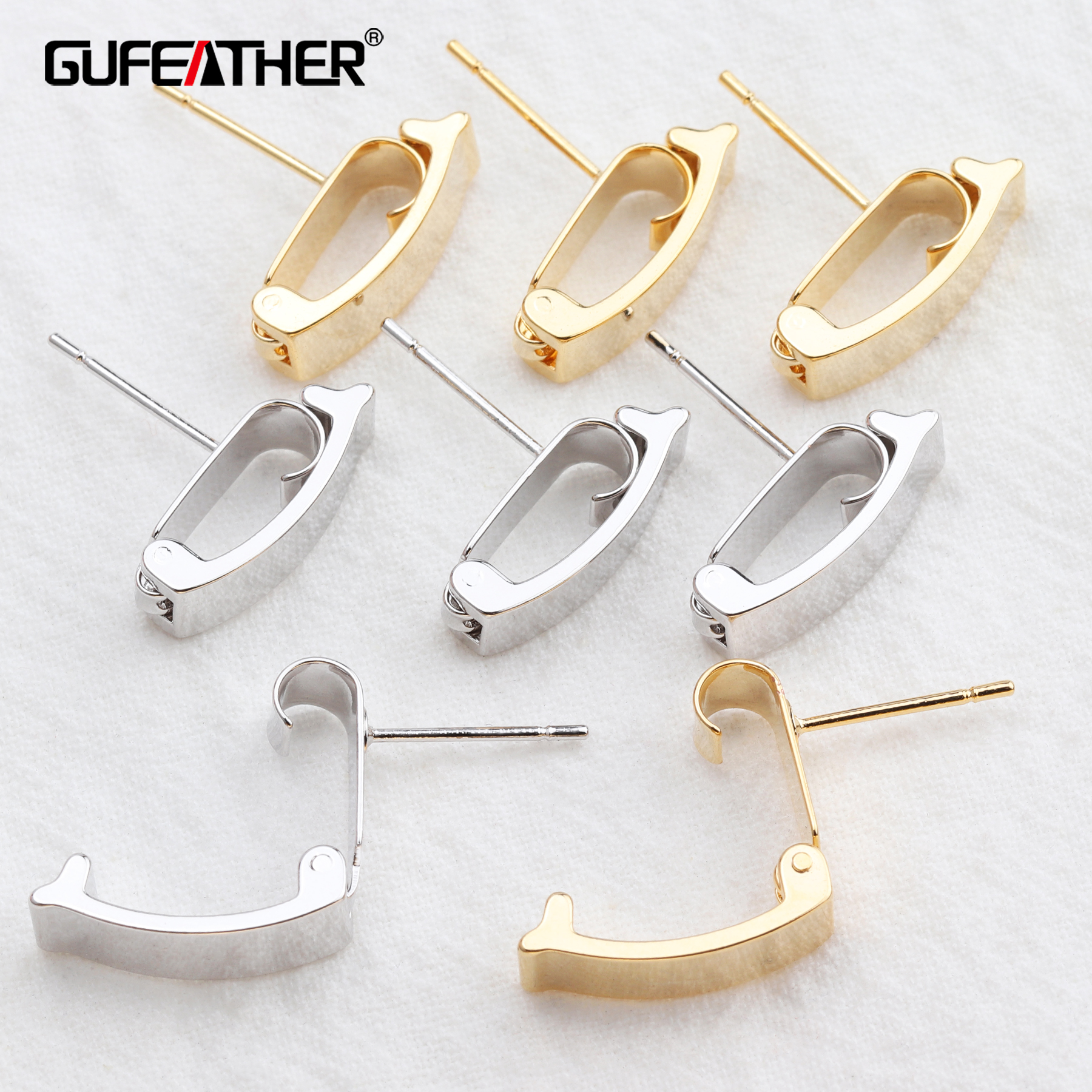 GUFEATHER M545,jewelry Accessories,18k Gold Plated,diy Earrings,hand Made,diy Accessories,jewelry Making,stud Earring,10pcs/lot