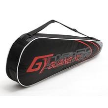 Наплечная Сумка для ракетки для бадминтона, новинка, водонепроницаемая, холщовая, утолщенная, 2 шт., сумка для ракетки для игры в теннис, сквош, портативный рюкзак для ракетки, тренировочный рюкзак