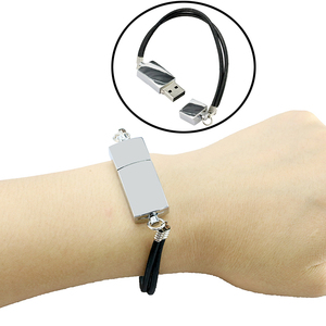 Bracelet Wrist Band Personalised Pendrive cle usb 2.0 32 4 8 16 gb Pen drive 16GB 32GB 64GB 256GB 128GB Metal Flash Drive Stick