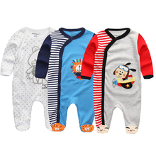 2020 New Arrivals Unisex Baby 3Pcs/set Long Sleeve Rompers Overalls Roupas de bebe Clothe Soft Cotton winter Styles clothing