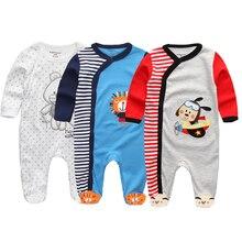 2020 yeni gelenler Unisex bebek 3 adet/takım uzun kollu tulum tulum Roupas de bebe kumaş yumuşak pamuk kış stilleri giyim