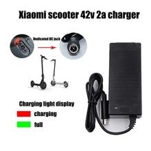 42V 2A en düşük fiyat elektrikli Scooter şarj adaptörü Xiaomi Mijia M365 Ninebot Es1 Es2 elektrikli Scooter aksesuarları şarj cihazı