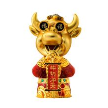 Interior-Decor Car 1pc Car-Vent-Diffuser Shaking-Head Cow-Statue Useful Year-Figure Ox
