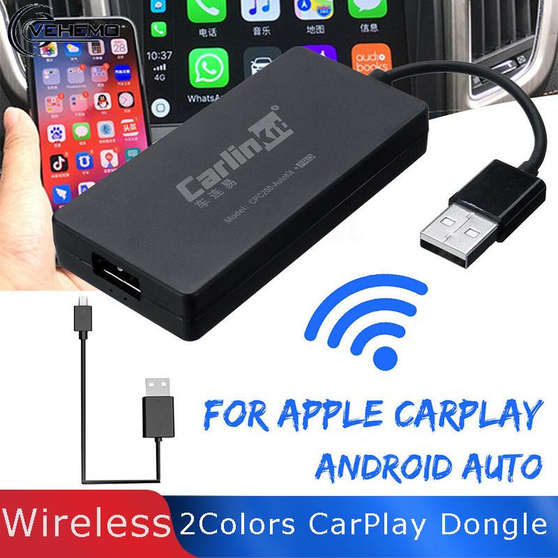 Беспроводная смарт ссылка для bluetooth Apple IOS CarPlay Dongle автомобильный Android Navigatie Carlinkit Speler Mini USB Carplay Stok Auto