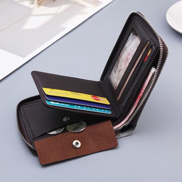 Canvas Zipper Short Men's Wallet