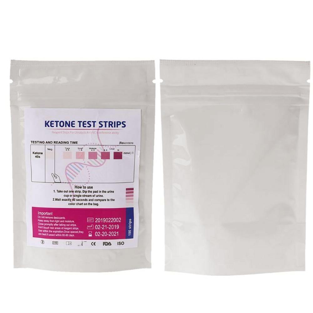 100 шт./пакет точные кетоновые тестерные полоски лабораторная, медицинская анти-ВЦ анализ мочи для домашнего здоровья быстрая URS-1K