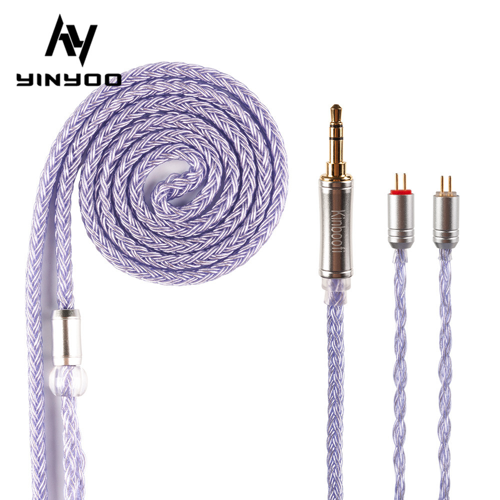 cheapest Kinboofi 16 Core High Purity Silver Plated Cable 2 5 3 5 4 4MM With MMCX 2PIN QDC for KZZS10 Pro C12 BA5 BLON BL-03 BL-05 BL05