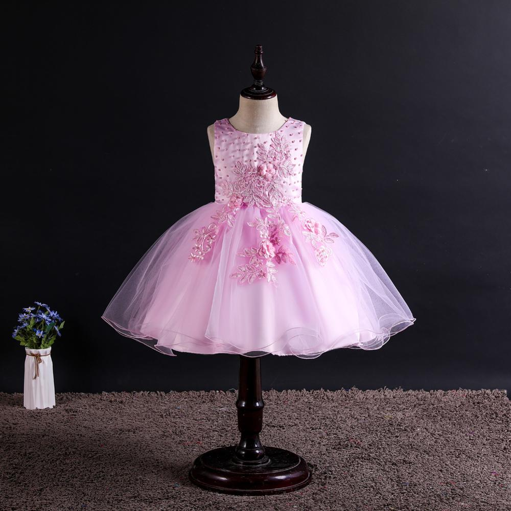 baby girl clothes dress wedding Wedding presiding girls princess Sleeveless Flower new tutu